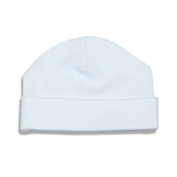 Baby beanie hat in white