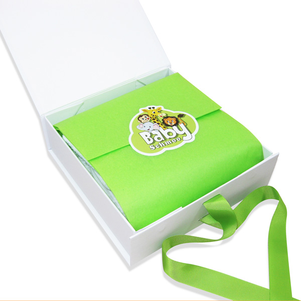 Standard baby gift box open