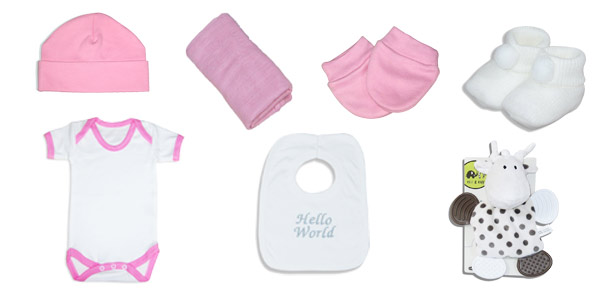 Standard plus baby girl gift hamper