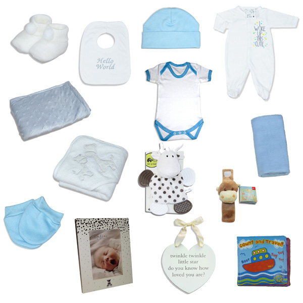 Luxury baby boy gift hamper