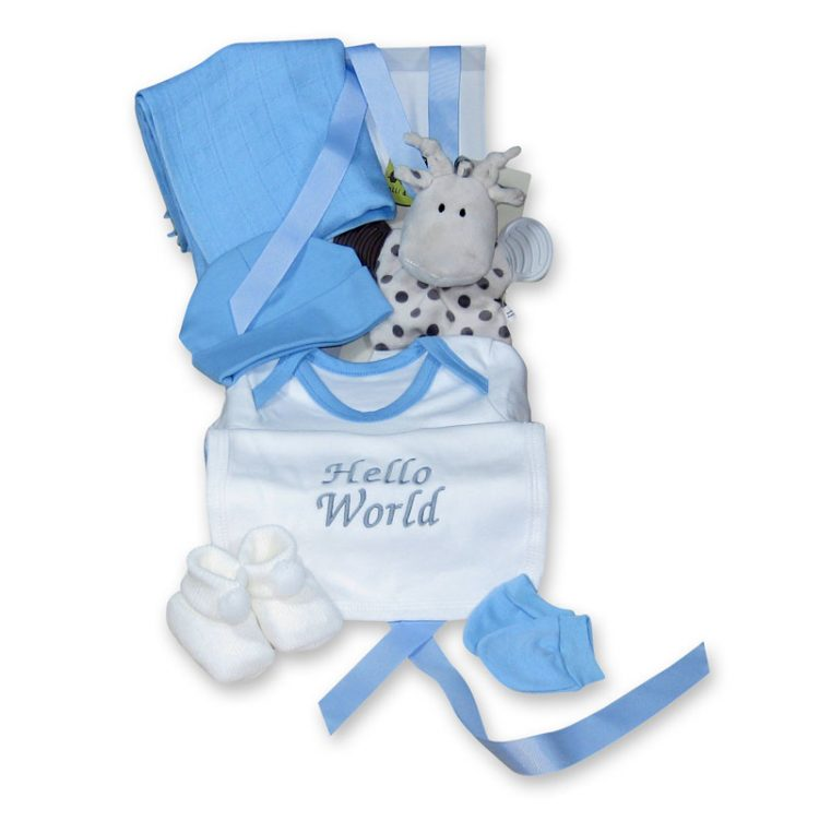 Standard plus baby boy gift hamper