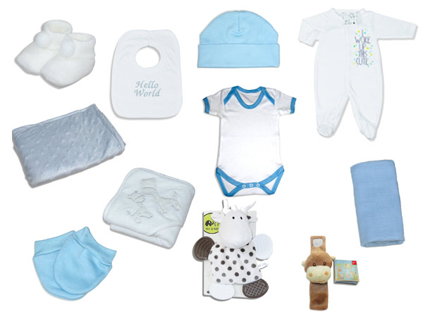Premium plus baby boy gift hamper