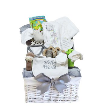 Luxury unisex wicker gift basket